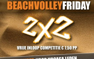 beachvolleybal VoCASA volleybal Nijmegen in De Beachfabriek 28-11-2014