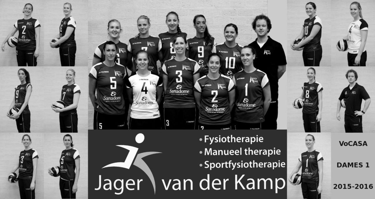 VoCASA Dames 1 VoCASA volleybal Nijmegen 2015-2016