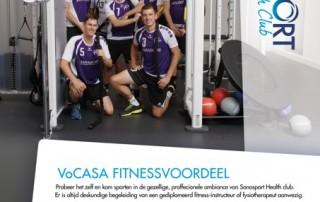 Sanasport Health Club actie VoCASA volleybal Nijmegen
