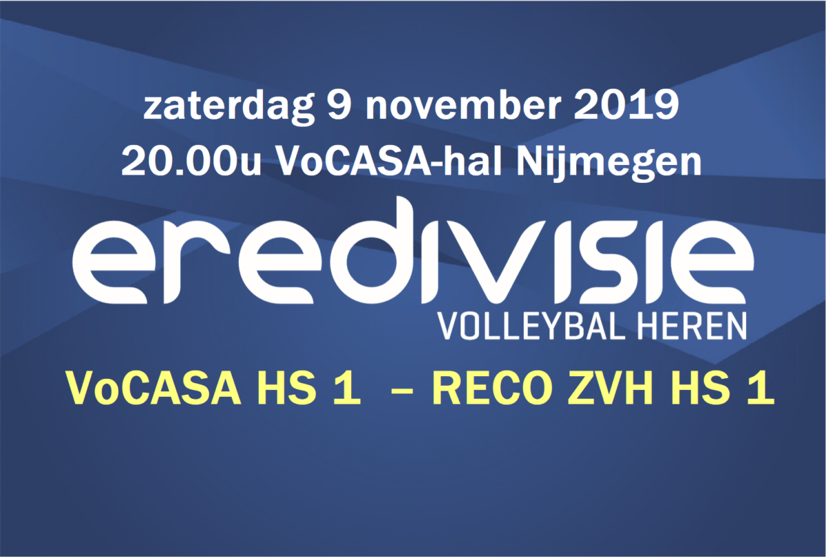 9 nov 20.00u VoCASA Heren 1 – RECO ZVH H1